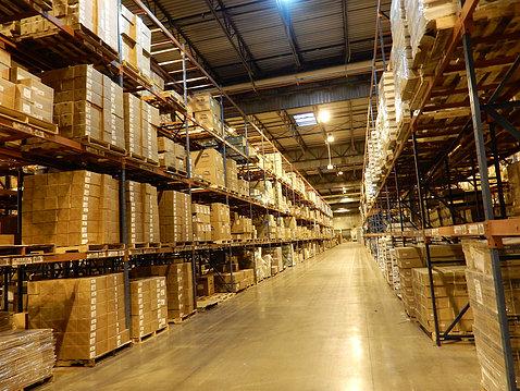 The NIH Supply Center warehouse interior
