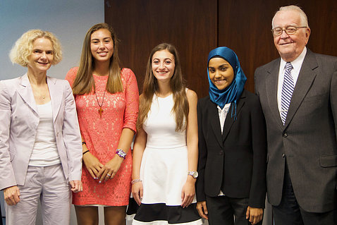 NIDA director with contest winners