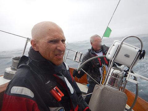 Wassermann on a boat