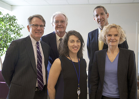 Five scientists involved with MTF study