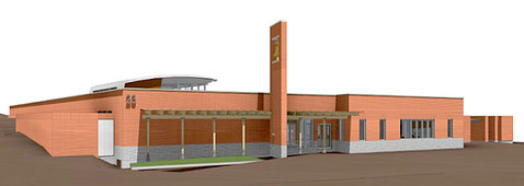 Rendering of the NWCCC building