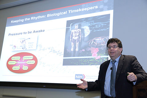Dr. Twery gives an NIH lecture.