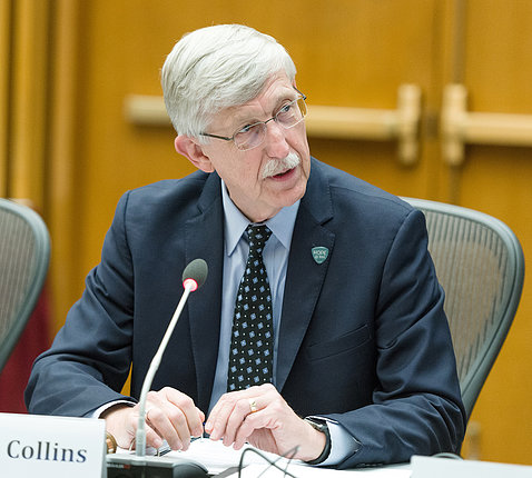 NIH director Dr. Francis Collins at ACD meeting