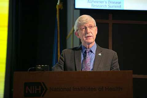 NIH director Dr. Francis Collins speaks to attendees.
