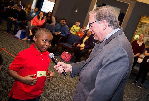 NIH principal deputy director Dr. Lawrence Tabak hosts Picture Puzzle Trivia.