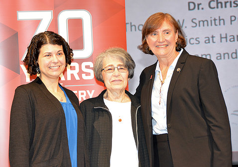 Dr. Lisa Postow with her mother Dr. Joan Postow and Seidman.