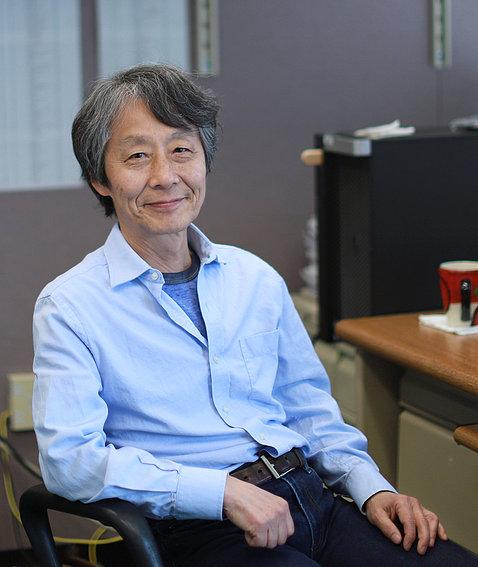 Hikosaka seated in office