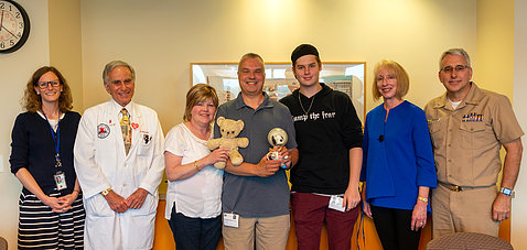 The Kaminski family meets with NHLBI doctors and researchers