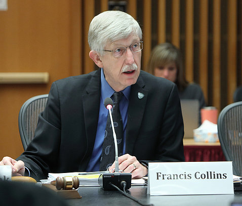 NIH director Dr. Francis Collins presides at ACD meeting
