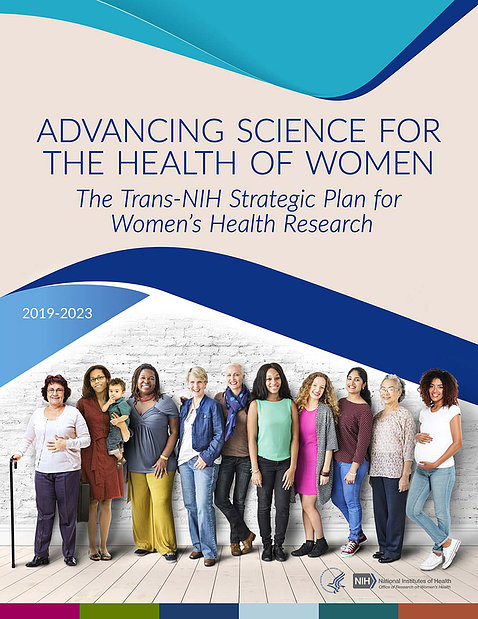 Book cover showing line of diverse women smiling into camera