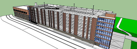 Rendering of a new parking garage