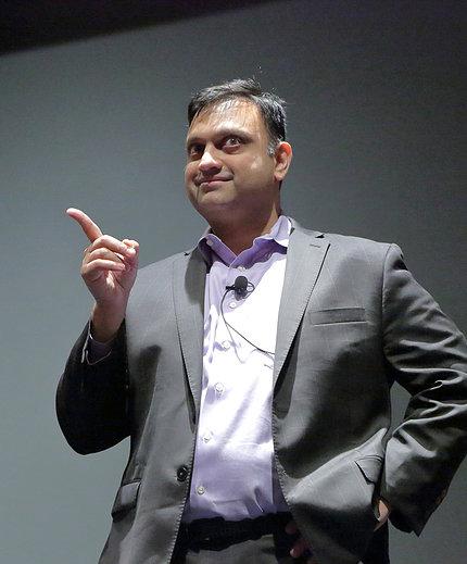 Parashar points his finger