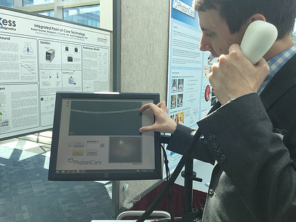 Device shown that detects ear infections