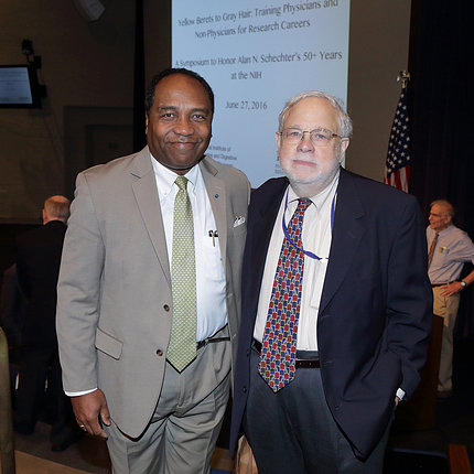 Drs. Rodgers and Schechter at event