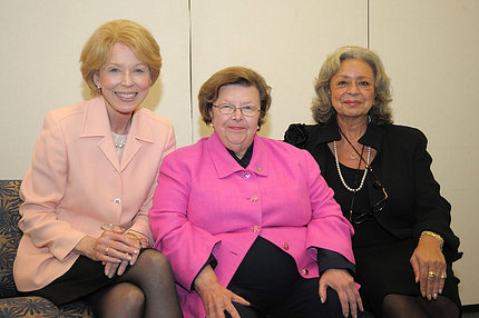 Mikulski, Healy and Pinn, seated