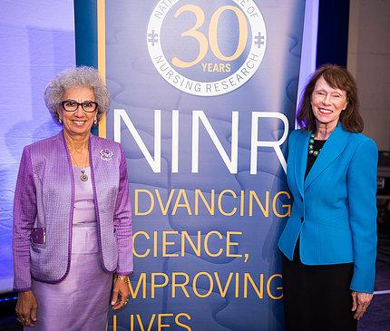 Dr. Afaf Meleis and NINR director Dr. Patricia Grady