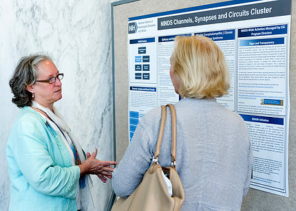 Dr. Whittemore presents a poster on the institute's channels