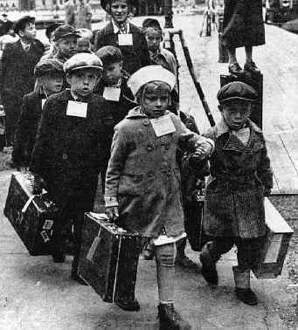 Refugee children during wartime