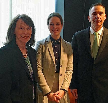 Dr. Grady smile, posing with Miyamoto and Ricciardi