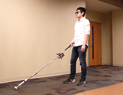 Zhang demonstrates the Robocane