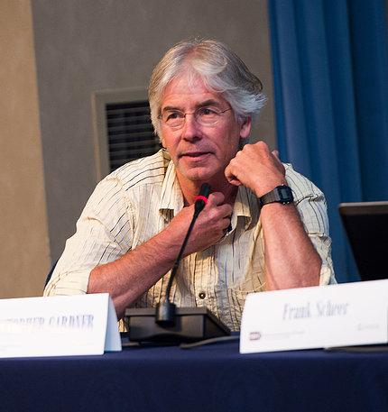 Gardner speaks on a panel