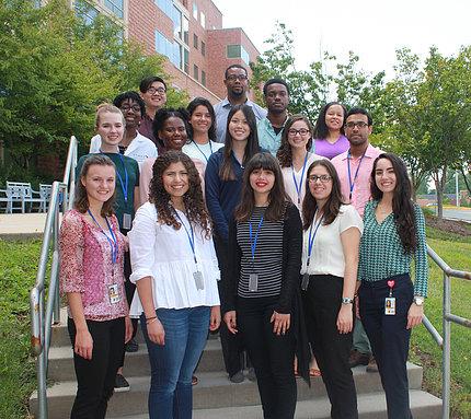 Group shot of NIAMS summer interns