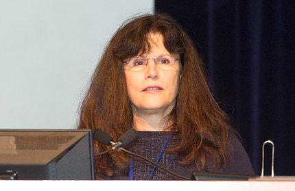Amara at microphone