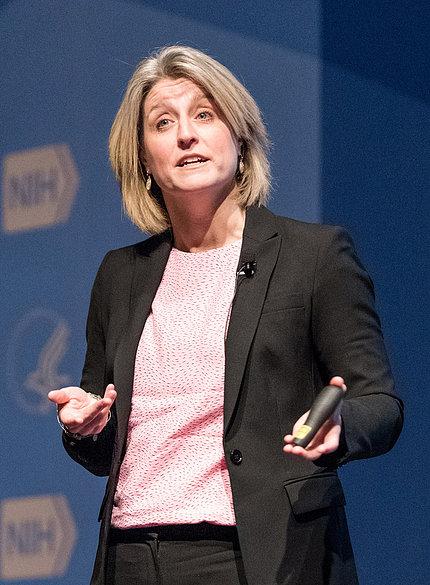 Lisa Bodell speaking onstage