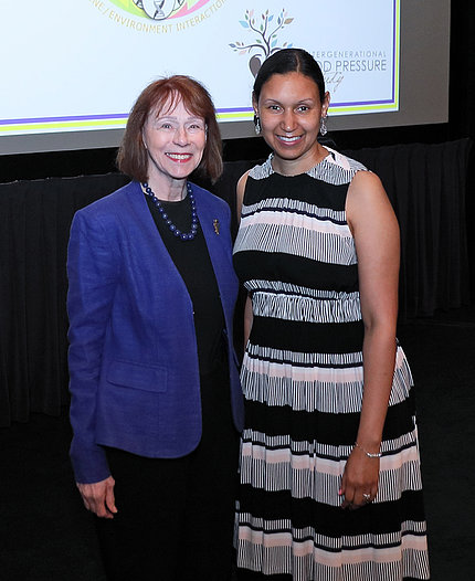 NINR director Dr. Patricia Grady and Dr. Jacquelyn Taylor