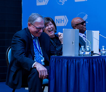 Dr. Tabak, Dr. Freire and Dr. Johnson judge the competition