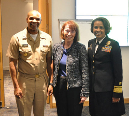 Surgeon General Jerome Adams, NINR director emeritus Dr. Grady and Radm. Sylvia Trent-Adams, deputy surgeon general Radm. Sylvia Trent-Adams, deputy surgeon general