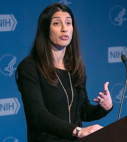 Dr. Melissa Brotman at podium
