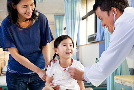 pediatrician examining little girl , her mother beside her : Stock Photo View similar imagesMore from this photographer Pediatrician examining little girl , her mother beside her