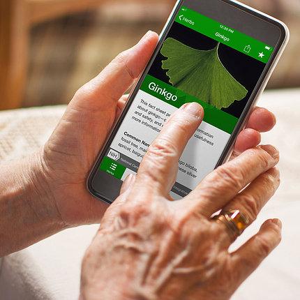 HerbList app on a smartphone.