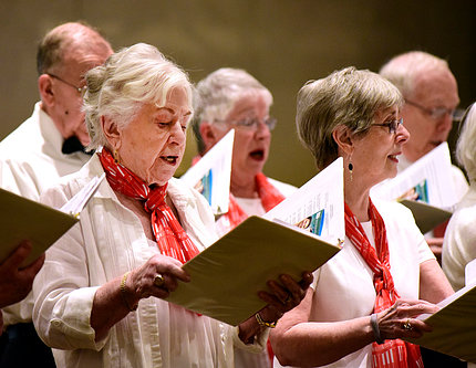Members of the Croasdaile Chorale singing.