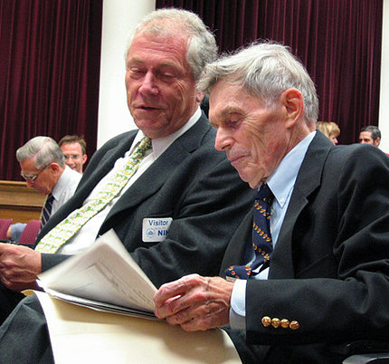 Dr. Fritz Melchers with Dr. Michael Potter in 2004 at event.