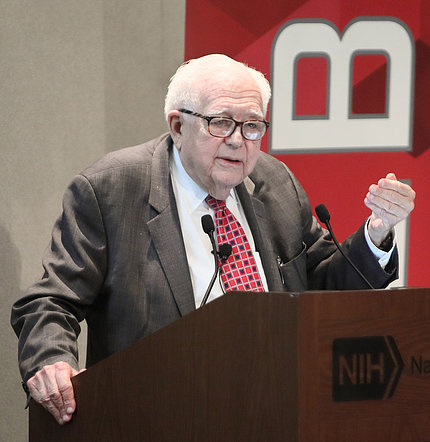 Dr. Eugene Braunwald gives NHLBI 70th Anniversary Lecture.