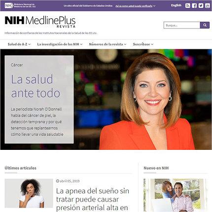 A screenshot of the new website
