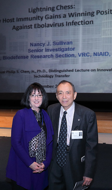 Dr. Sullivan poses with Dr. Chen