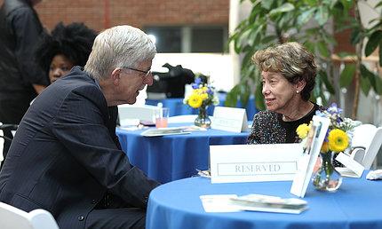Dr. Collins comforts Steve Katz' widow Linda