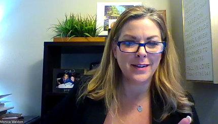 screen capture of Monica Weldon