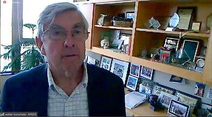 screen capture of NINDS director Dr. Walter Koroshetz