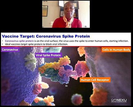 Screen shot of Corbett over lecture slide graphic