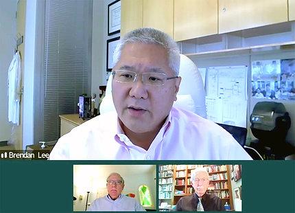 Dr. Lee speaks on video.