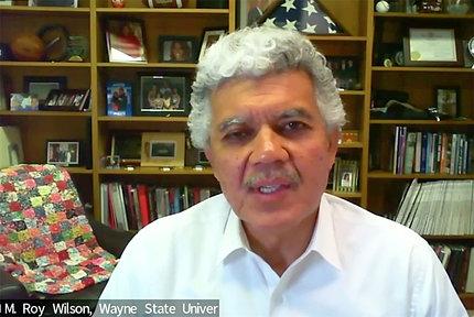Dr. Wilson speaks on video.
