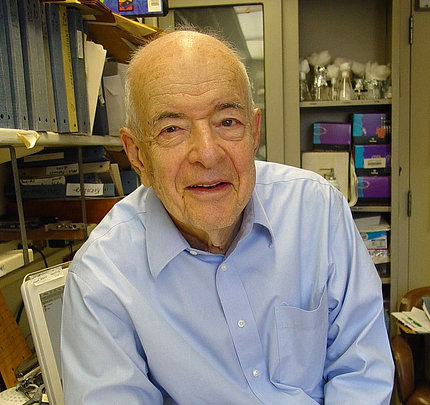 Dr. Herb Tabor in his lab