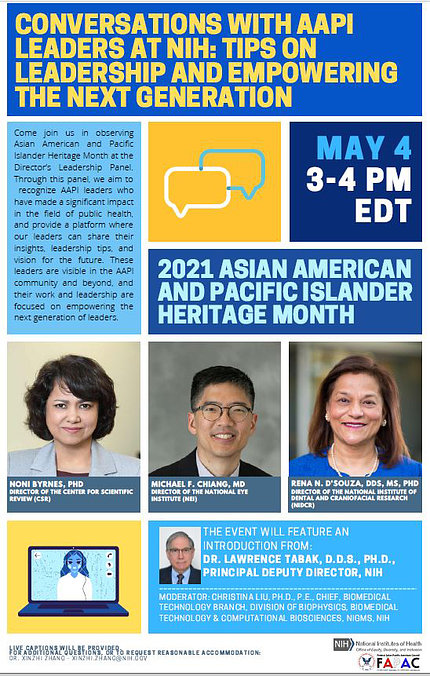 Colorful poster announcing Asian Pacific Islander Heritage Month event