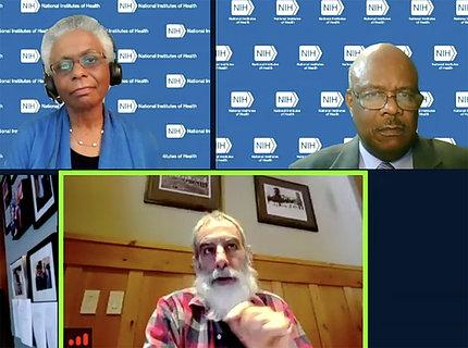 Bernard, Glazer, and Johnson at ACD Zoom meeting