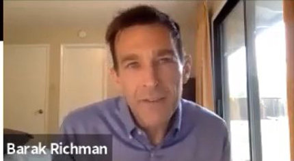 Barak Richman speaks from his home.