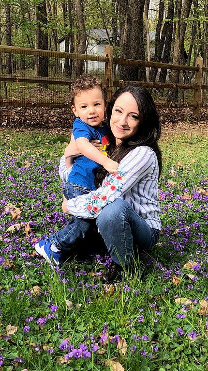 Nemeroff holds her son
